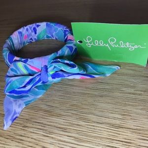 Lily Pulitzer wrapped bangle Bennet Blue Celestial